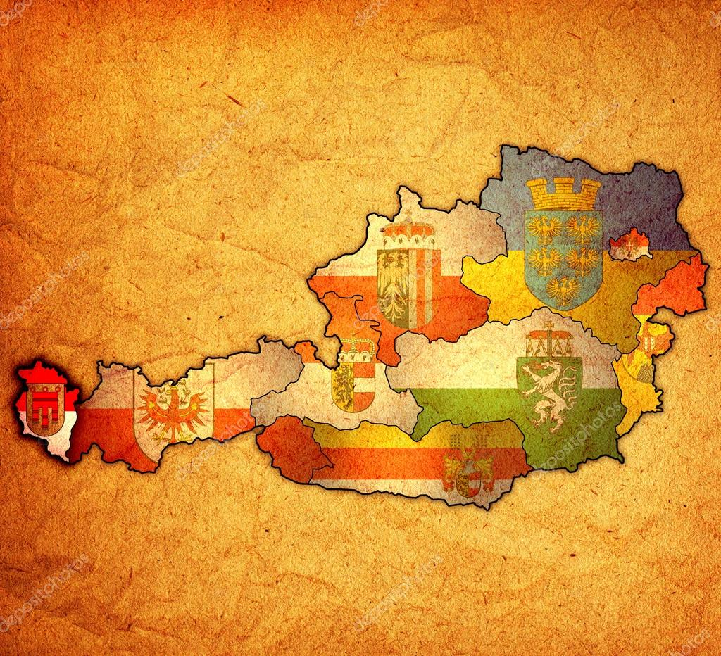 ausztria térkép vorarlberg Vorarlberg Ausztria Térkép — Stock Fotó © michal812 #54601861 ausztria térkép vorarlberg