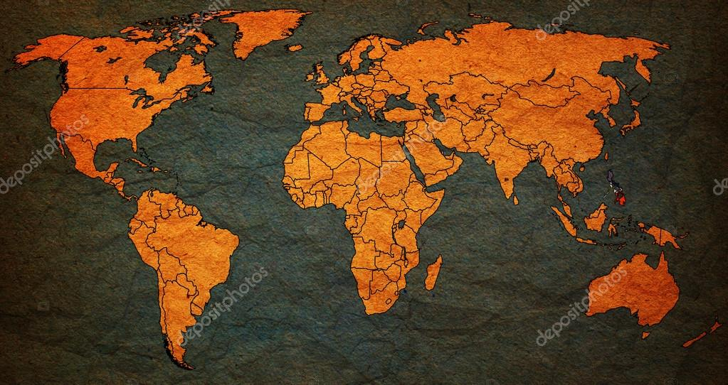 philippines territory on world map — Stock Photo © michal812 #61686853