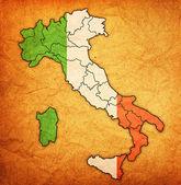 Mapa Itálie s Administrativní dělení