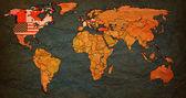 Mapa světa NVS Organizace Severoatlantické smlouvy