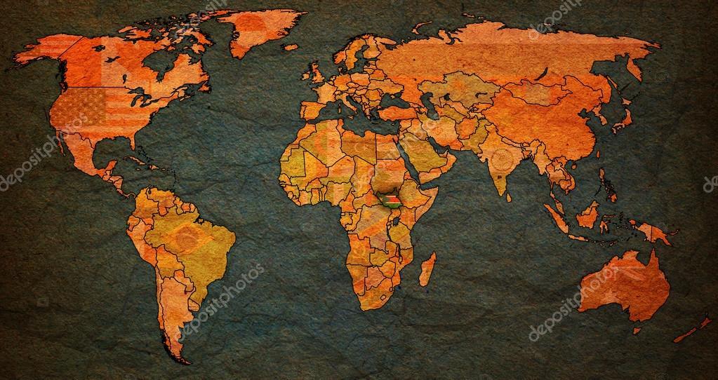 south sudan territory on world map — Stock Photo © michal812 #88370378