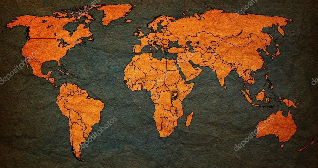 uganda territory on world map — Stock Photo © michal812 #88370936