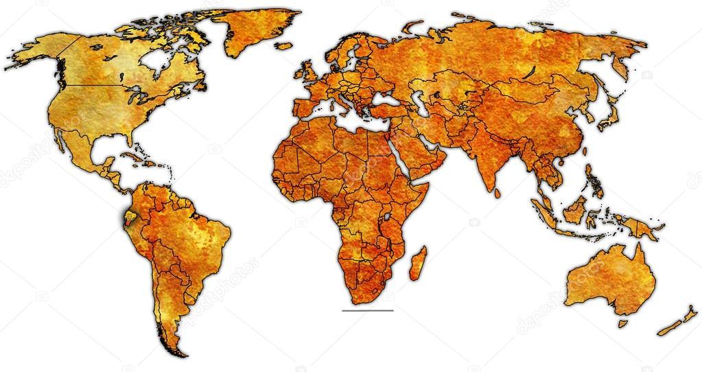 Ecuador territory on world map stock photo michal812 88371222 ecuador territory on world map stock photo gumiabroncs Choice Image
