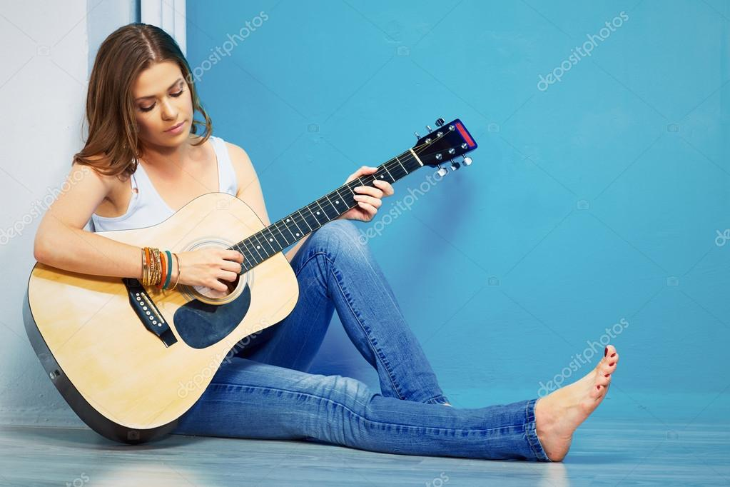 Guitar and woman sharing 3