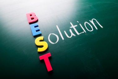 Best solution concept