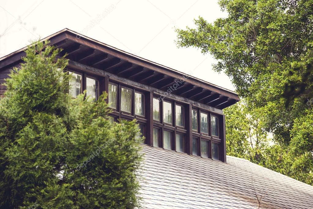 Abbaini su un tetto di edificio foto stock ansonde for Gettare piani dormer