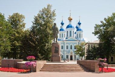 Monument Zoya Kosmodemyanskaya and Kazan Cathedral