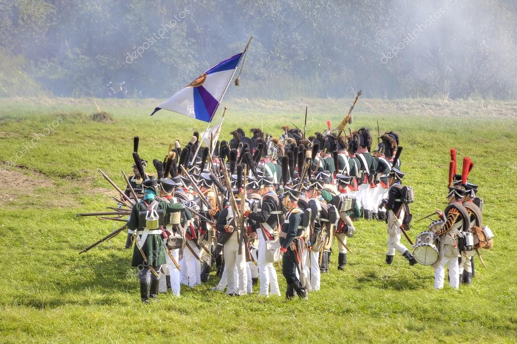 Reconstruction of the Borodino battle – Stock Editorial Photo