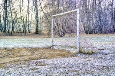 Gate on the football field