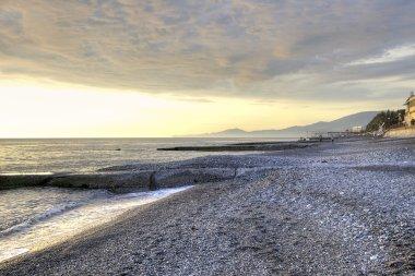 Black sea coast. Evening
