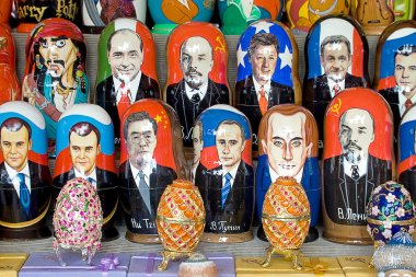 Matryoshka doll and politicians