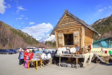 Caucasus. Little market is in Valley of Narzan