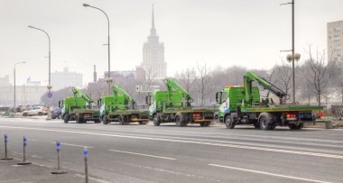 Tow trucks on the street