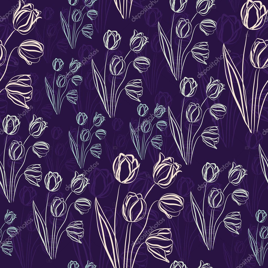 Tulips. Seamless texture. Design for fabric.