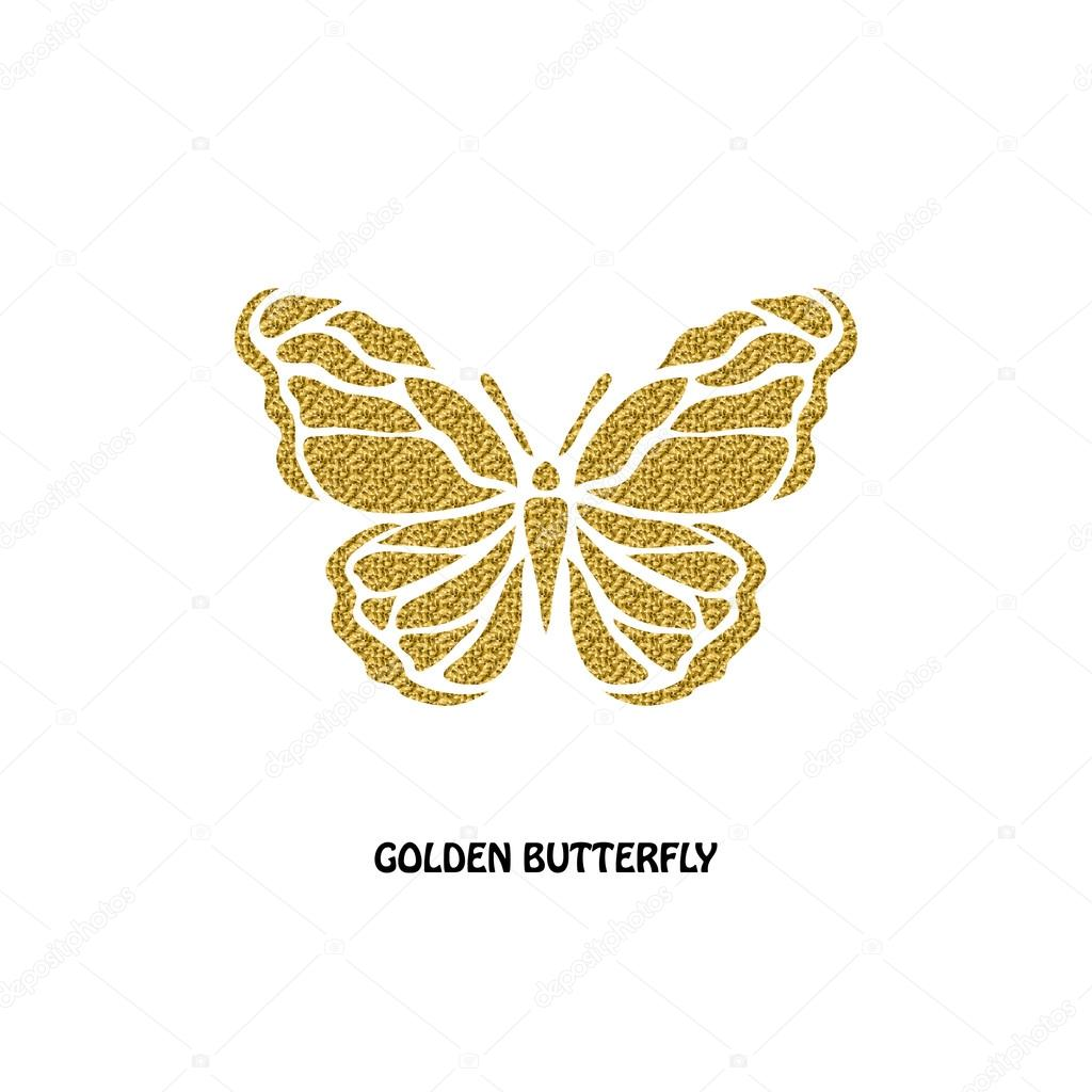 Golden butterfly symbol stock photo chantall 114548190 abstract golden butterfly symbol design element can be used for invitations greeting cards scrapbooking print labels emblems manufacturing biocorpaavc Images