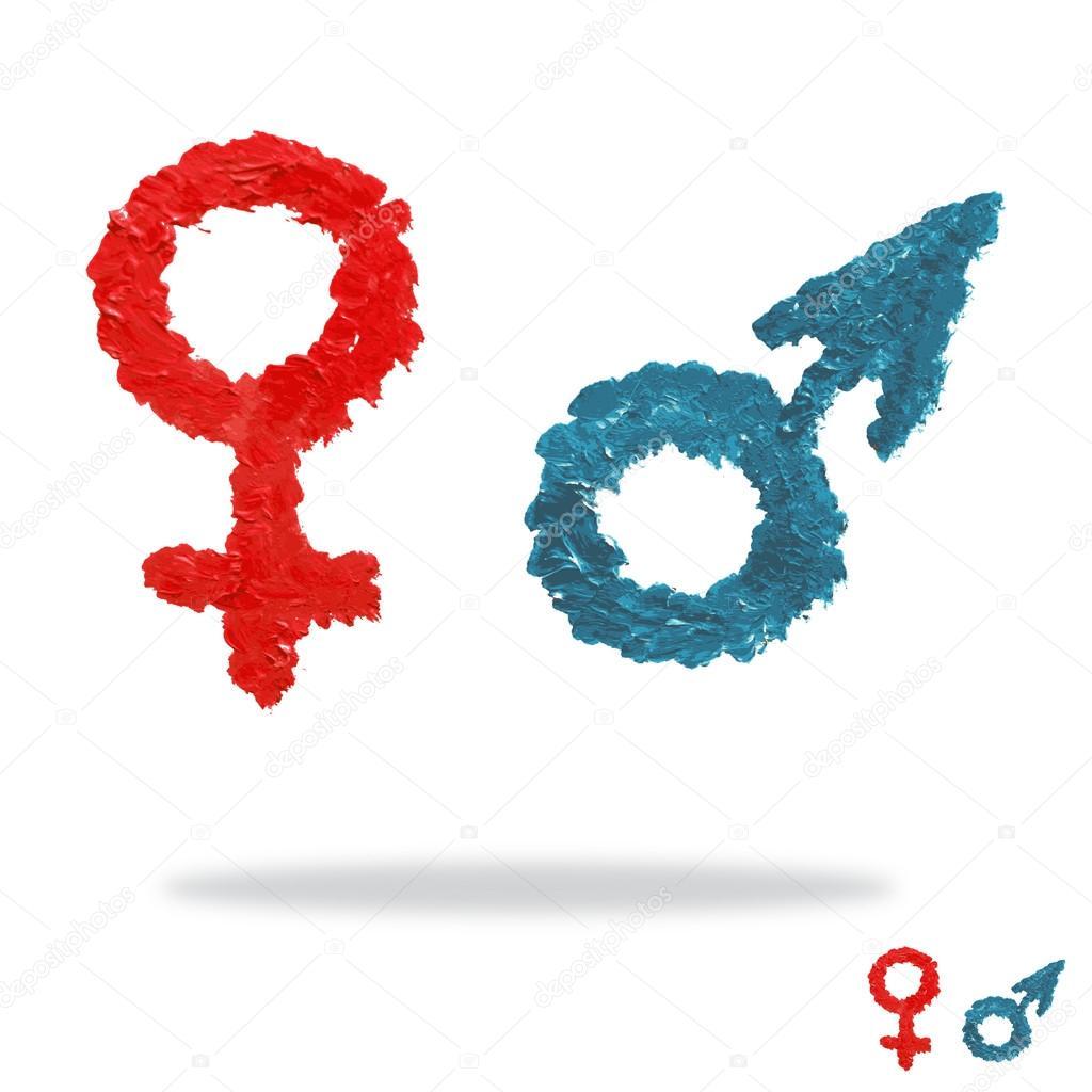Oil painted man and woman symbols stock vector chantall 59345383 oil painted man and woman symbols stock vector buycottarizona