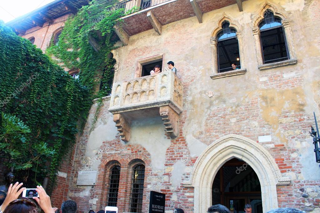 Verona Italien 26 August 2015 Romeo Und Julia Balkon Stockfoto