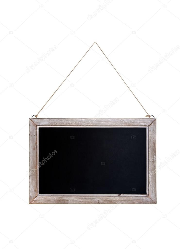Chalkboard with wooden frame — Stock Photo © Aivolie #92245522