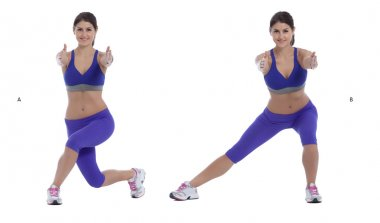 Curtsy Squat/Lateral Lift