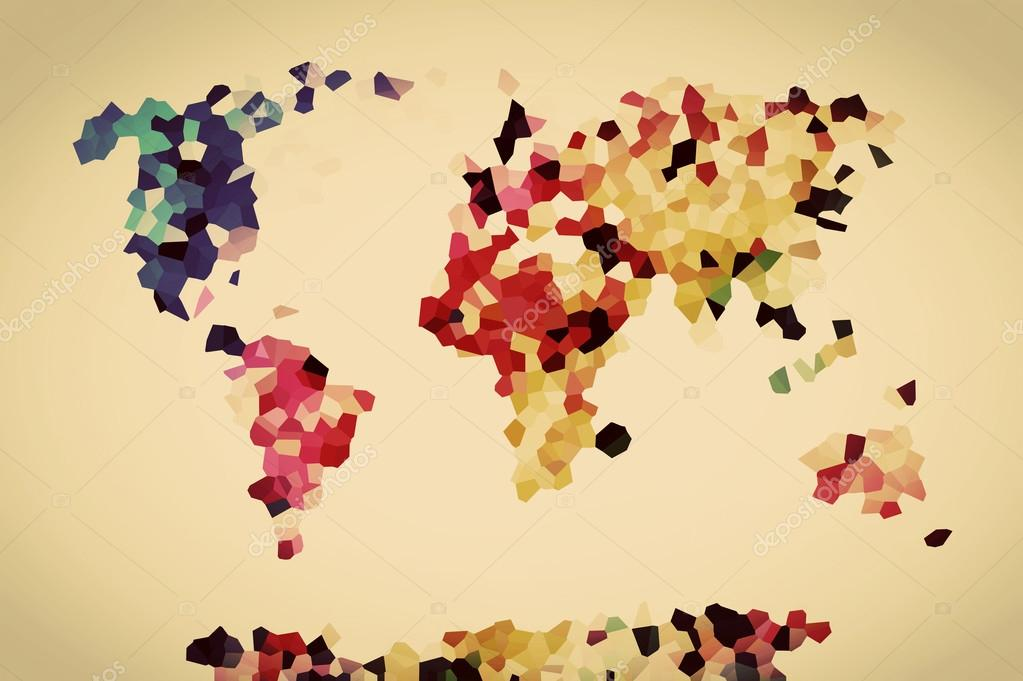 Vintage colorful world map stock photo photocreo 65445889 vintage colorful world map stock photo gumiabroncs Gallery