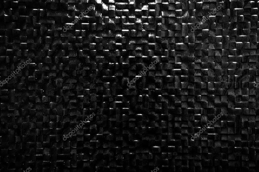 Priorità bassa del muro di piastrelle nere u foto stock