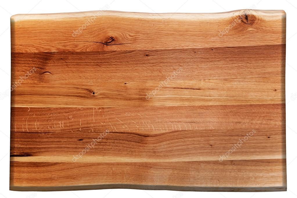 Houten plank geïsoleerd op wit u stockfoto photocreo