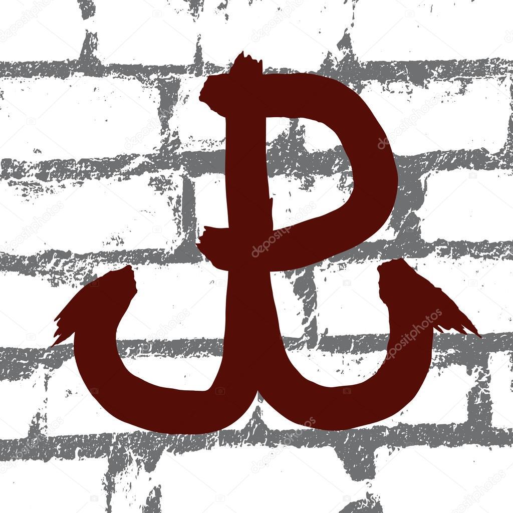 Polen-Kämpfe (Polska Walczy), Symbol der polnischen Widerstand movem ...