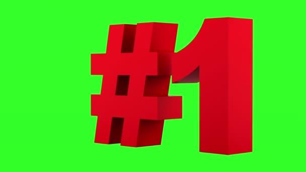 rote Schlaufe auf grünem Chromakey-Hintergrund