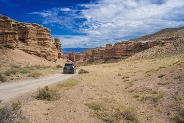 car in canyon