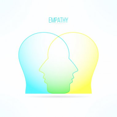 Empathy icon. Empathic person concept. Compassion design. Compassionate feelings and emotions