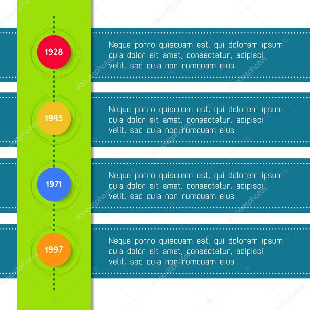 Infografía de plantilla línea de tiempo adecuado para ...