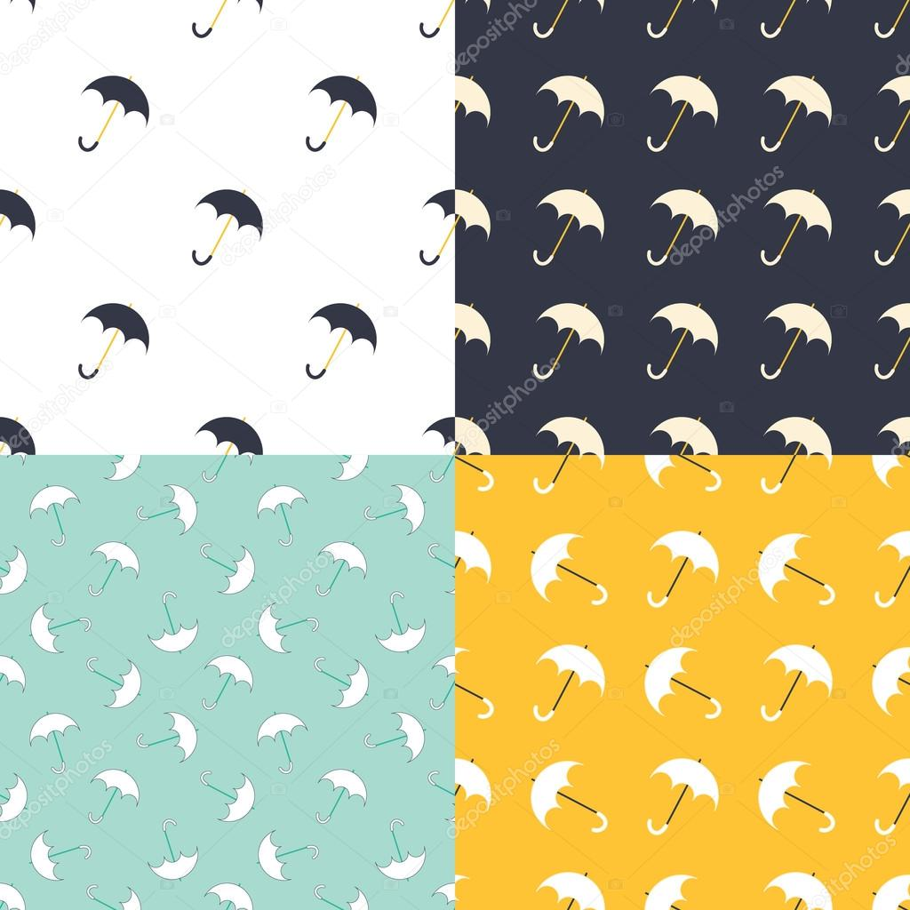 Umbrella seamless pattern in modern clean and simple design. Parasol background. Vector illustration.
