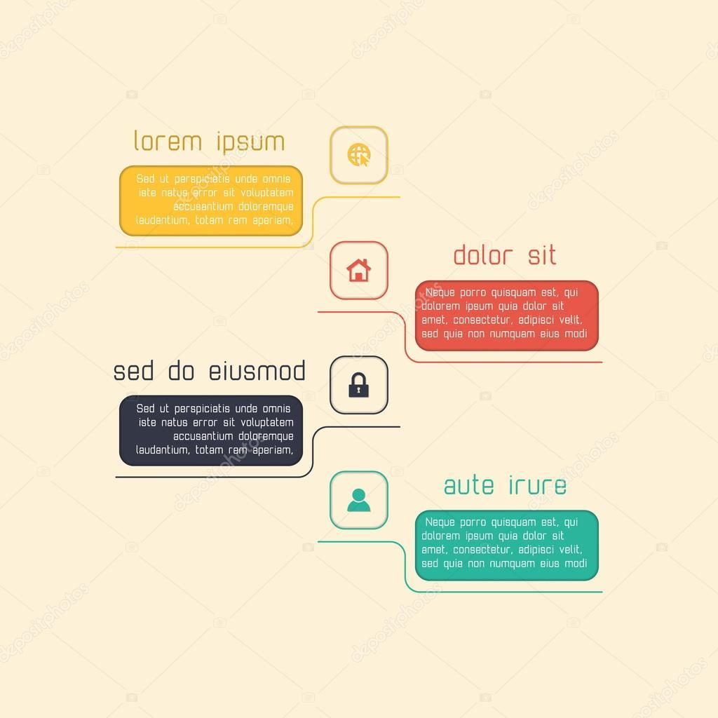 Infografía simple plantilla adecuada para informes y ...