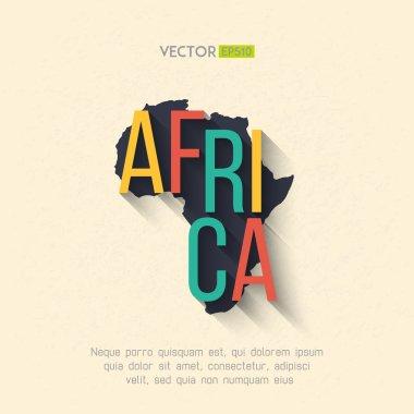 Africa map in flat design.