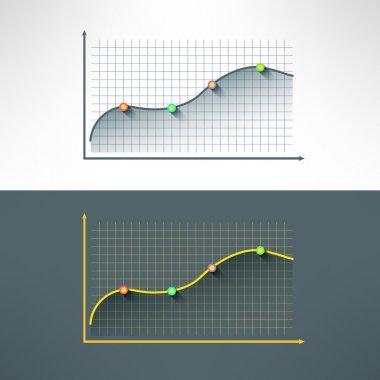 graphics chart in modern flat design.