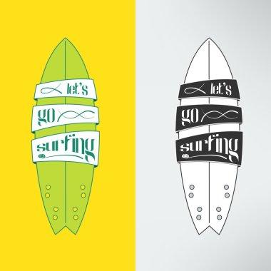 surfboard in cartoon graffiti design