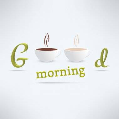 coffee background with cups and lettering