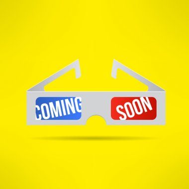 3d glasses with coming soon text