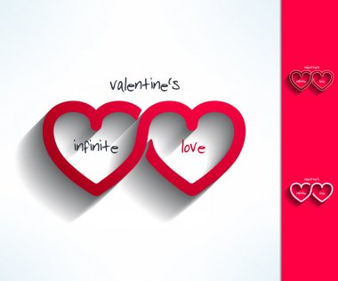 Set of vector valentines infinite love signs