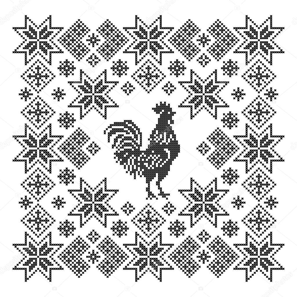 орнаменты на свитерах схема
