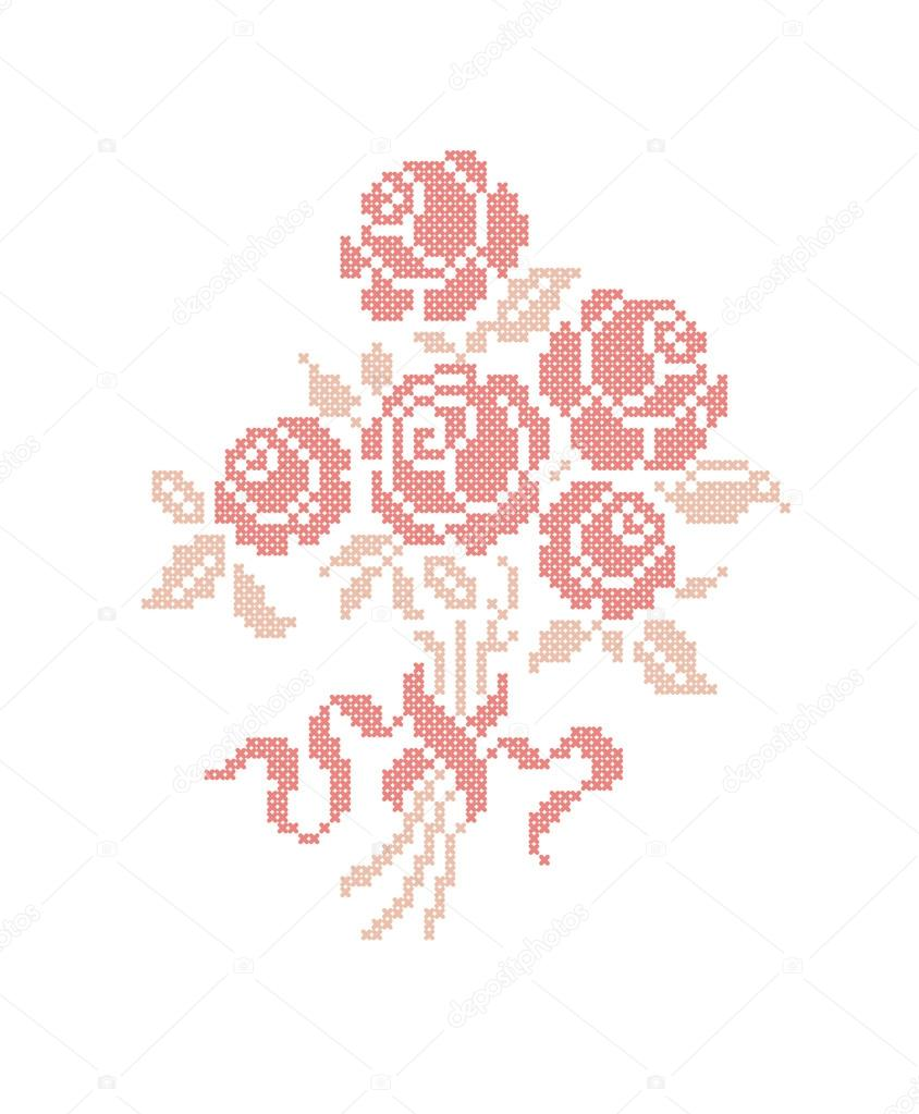Rose. Bouquet of flowers.