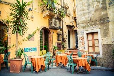 Street cafe in Taormina