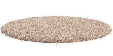 Round carpet isolated on white background