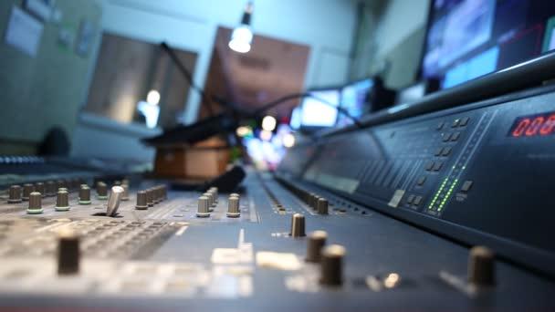 Audio mixer working in studio recording