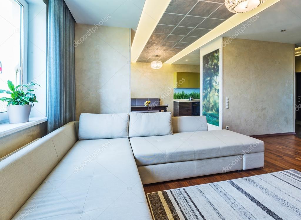 Salotto Moderno Grande : Un grande salotto moderno u2014 foto stock © baburkina #74108679