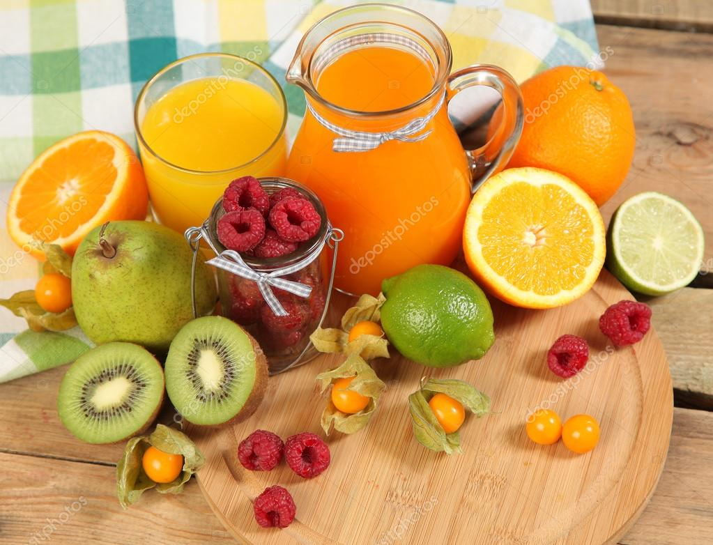 sweet juice and fruits
