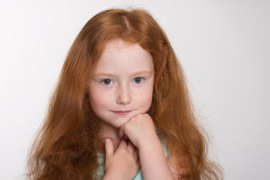 Portrait of a six year old girl