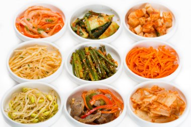 Spicy salads of traditional Korean cuisine