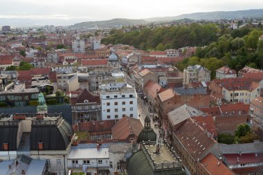 Panoramic view of Zagreb's Lower Town
