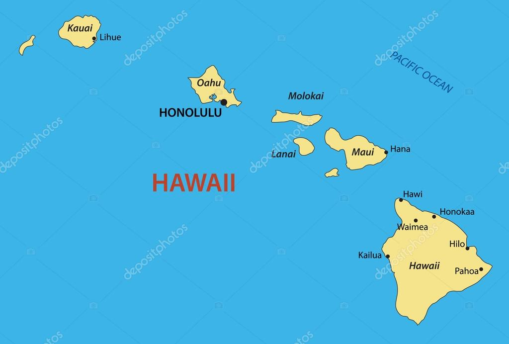 Hawaii Map Stock Vectors Royalty Free Hawaii Map Illustrations